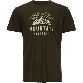 super.natural Graphic Tee Men Brown Charcoal/Mountain Lovers Logo